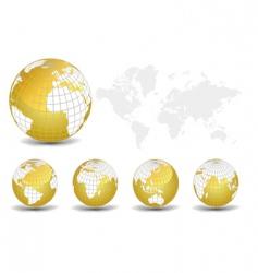 world map set vector image vector image
