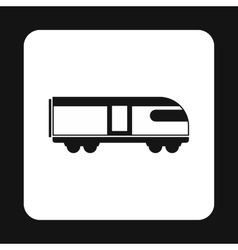 Train icon simple style vector
