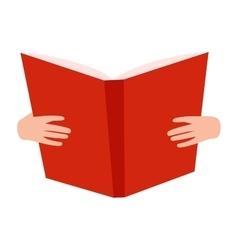 Open book with hands vector