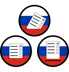 Signs of voting in russia vector