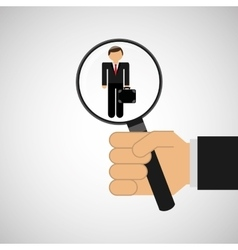 Human resources searching leader executive graphic vector