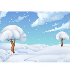 Christmas background winter landscape 3d vector