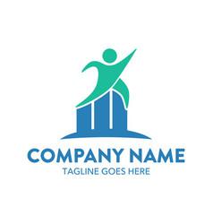 businessman logo-4 vector image