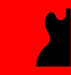 Guitar half tone vector