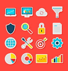big data analytics stickers vector image