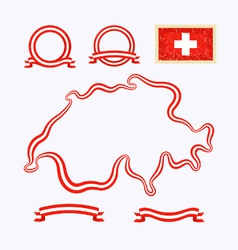 Colors of Switzerland vector image