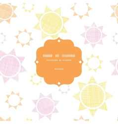 Abstract textile colroful suns geometric frame vector