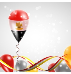 Flag of egypt on balloon vector