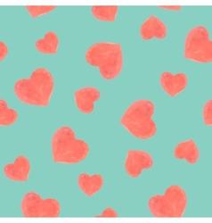 Seamless marker heart pattern vector image