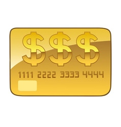 Golden plastic card vector