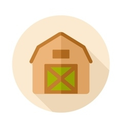 Barn house flat icon with long shadow vector