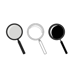 Magnifying glass tool set vector