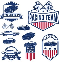 racing team vector image