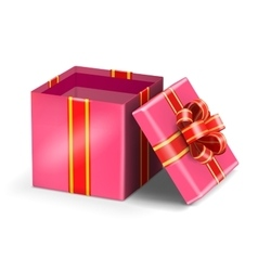Open red gift vector
