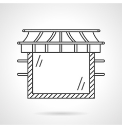 Glass showcase flat line design icon vector