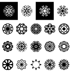 Set of freehand floral logotypes vector