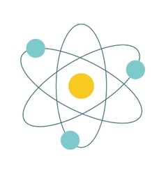 Atom icon Science design graphic vector image