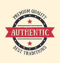 Authentic vintage emblem badge label vector