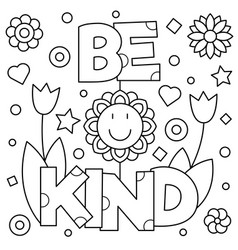 be kind coloring page - choose kindness coloring page royalty free vector image
