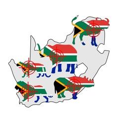 Big five south africa cross lines vector