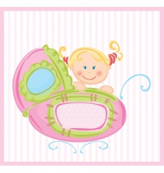 cartoon baby vector image