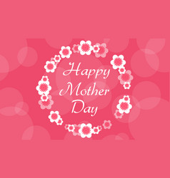 Collection of mother day greeting card vector