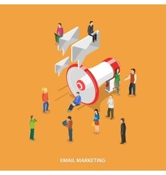 Email Marketing Flat Isometric Concept vector image vector image