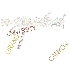 Grand canyon university text background word vector