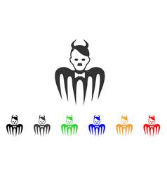 Hitler spectre devil icon vector