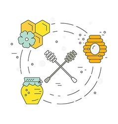 Honey concept vector