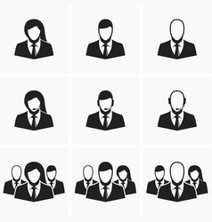 Icons of office employees vector