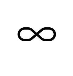 infinite sign icon vector image