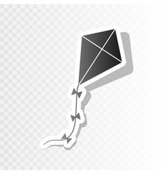 Kite sign new year blackish icon on vector