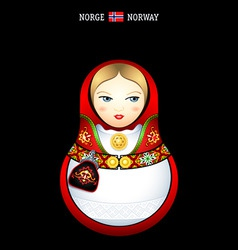 Matryoshka norway vector