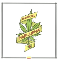 Medica marijuana logo eight vector