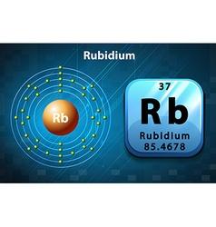 Periodic symbol and diagram of Rubidium vector image vector image