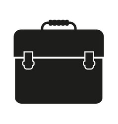 Portfolio sign black icon on vector