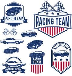 Racing team vector
