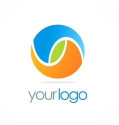 round color ball eco logo vector image