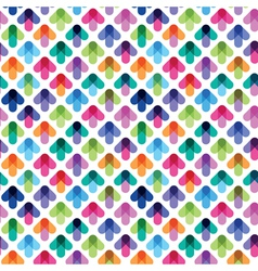seamless pattern from color arrows vector image vector image
