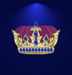 Tiara with precious stones 6 vector