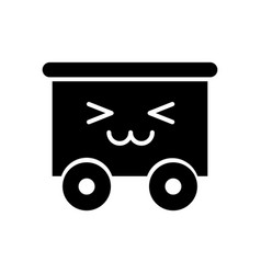 Train wagon toy kawaii character vector