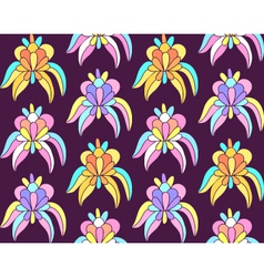 Tropical exotic flowers seamless background vector image