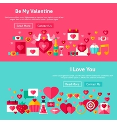 Valentines day website banners vector