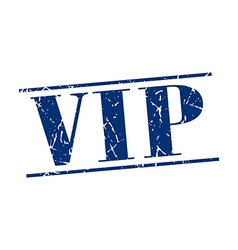 vip blue grunge vintage stamp isolated on white vector image vector image