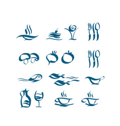 wave style icon set vector image vector image
