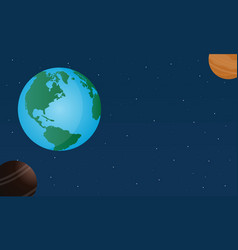 world on space design style vector image