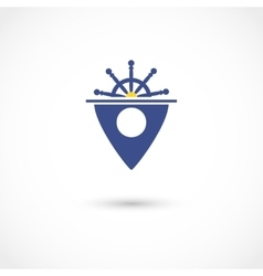 Yacht club tag vector image vector image
