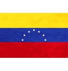 True proportions venezuela flag with texture vector