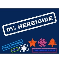 0 percent herbicide rubber stamp vector